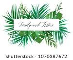 wedding floral invitation ... | Shutterstock .eps vector #1070387672