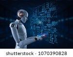 3d rendering robot learning or... | Shutterstock . vector #1070390828