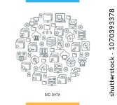 big data technology concept.... | Shutterstock .eps vector #1070393378