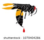 vector illustration of a wasp... | Shutterstock .eps vector #1070404286