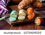 different flavored aromatic... | Shutterstock . vector #1070409035