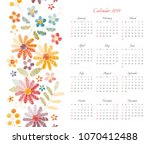 Cute Calendar For 2019 Year....