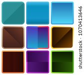 rounded square color frames | Shutterstock .eps vector #1070413646