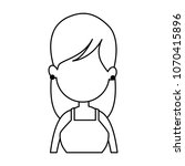 young faceless woman profile on ... | Shutterstock .eps vector #1070415896