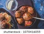 delicious homemade meat balls... | Shutterstock . vector #1070416055