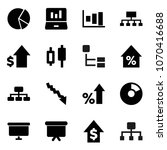 flat vector icon set   graph... | Shutterstock .eps vector #1070416688