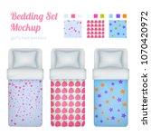 childish girl bedding set of... | Shutterstock .eps vector #1070420972