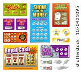scratch lottery games realistic ... | Shutterstock .eps vector #1070421095