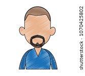 young man faceless cartoon... | Shutterstock .eps vector #1070425802