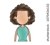 young faceless woman profile... | Shutterstock .eps vector #1070426132