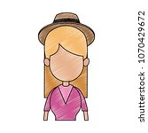 young faceless woman profile... | Shutterstock .eps vector #1070429672