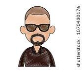 young man faceless cartoon... | Shutterstock .eps vector #1070430176