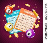 realistic detailed 3d lotto... | Shutterstock .eps vector #1070430446