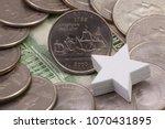 a quarter of virginia  quarters ...   Shutterstock . vector #1070431895