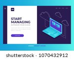 homepage. header for website... | Shutterstock .eps vector #1070432912
