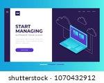homepage. header for website... | Shutterstock .eps vector #1070432912