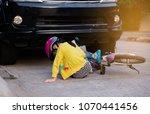 the little girl wearing a...   Shutterstock . vector #1070441456