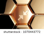 golden compress image icon in...