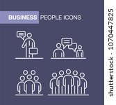 business people icons set... | Shutterstock . vector #1070447825