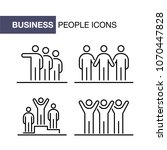 business people icons set... | Shutterstock . vector #1070447828