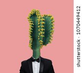 contemporary art collage ...   Shutterstock . vector #1070449412