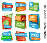 set of special offer labels and ...