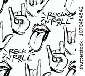rock and roll seamless pattern... | Shutterstock .eps vector #1070454542