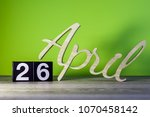 april 26th. day 26 of month ... | Shutterstock . vector #1070458142