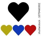 heart glyph icon. flat icon....