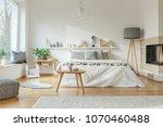 cozy  spacious bedroom interior ...   Shutterstock . vector #1070460488
