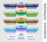 versus template for video blog  ... | Shutterstock .eps vector #1070462636