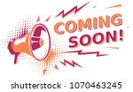 coming soon   sign with... | Shutterstock .eps vector #1070463245
