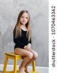 beauty cute caucasian blonde... | Shutterstock . vector #1070463362