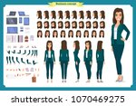 set of businesswoman character... | Shutterstock .eps vector #1070469275