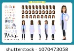 scientist character creation... | Shutterstock .eps vector #1070473058