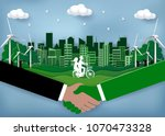 eco city friendly concept. join ... | Shutterstock .eps vector #1070473328