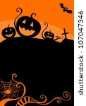 halloween card | Shutterstock .eps vector #107047346