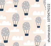 childish seamless pattern with... | Shutterstock .eps vector #1070474222