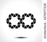 abstract infinity symbol on... | Shutterstock .eps vector #1070477228