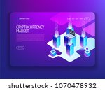 cryptocurrency and blockchain... | Shutterstock .eps vector #1070478932