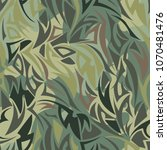 seamless camouflage pattern.... | Shutterstock .eps vector #1070481476