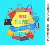 best price discount sale  color ... | Shutterstock .eps vector #1070482808