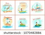 sea adventure and summer... | Shutterstock .eps vector #1070482886