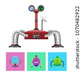 technology and creatures set ... | Shutterstock .eps vector #1070482922