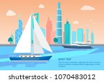 boat trip advertisement poster...   Shutterstock .eps vector #1070483012