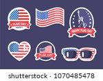 happy flag day  collection with ...   Shutterstock .eps vector #1070485478