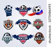 set of soccer football badge... | Shutterstock .eps vector #1070486495