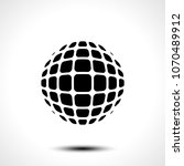 abstract globe design icon.... | Shutterstock .eps vector #1070489912