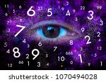 space eye of the universe and... | Shutterstock . vector #1070494028