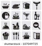 Icons Set Restaurant